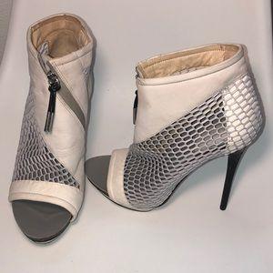Lamb platform heels booties stilettos 8.5 netting